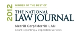 Merrill LAD Court Reporting National Law Journal Win